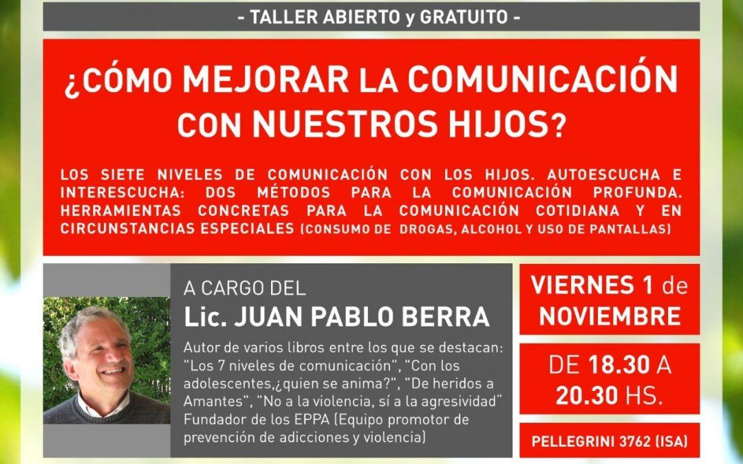 -TALLER ABIERTO Y GRATUITO- 1/11/2019